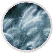 Blue Gras Round Beach Towel