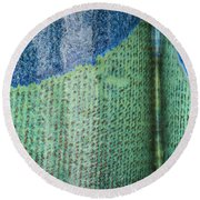 Blue/green Abstract Round Beach Towel