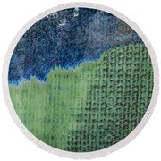 Blue/green Abstract Two Round Beach Towel