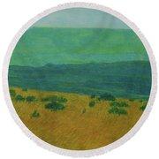 Blue-green Dakota Dream, 1 Round Beach Towel
