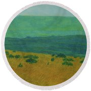 Blue-green Dakota Dream, 1 Round Beach Towel