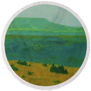 Blue-green Dakota Dream, 2 Round Beach Towel