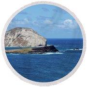Blue Hawaii Round Beach Towel