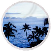 Blue Hawaii Round Beach Towel by Russell Keating