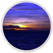 Blue Heaven  Round Beach Towel