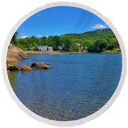 Blue Hill Round Beach Towel