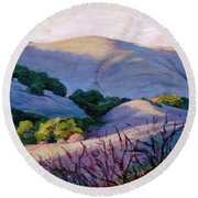 Blue Hills Round Beach Towel