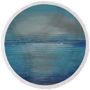 Blue Horizon Round Beach Towel