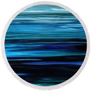 Blue Horrizon Round Beach Towel
