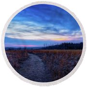 Blue Hour After Sunset At Retzer Nature Center Round Beach Towel by Jennifer Rondinelli Reilly - Fine Art Photography