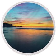 Blue Hour At Carmel, Ca Beach Round Beach Towel