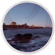 Blue Hour In Gloucester Round Beach Towel