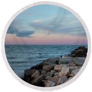 Blue Hour Martha's Vineyard Round Beach Towel