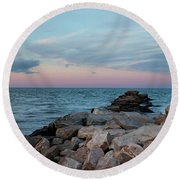 Blue Hour Martha's Vineyard Square Round Beach Towel