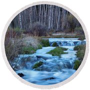 Blue Hour Streaming Round Beach Towel by James BO Insogna