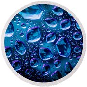Blue Ice Shower Round Beach Towel
