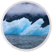 Blue Iceberg Round Beach Towel