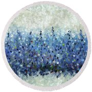 Blue Intensity Round Beach Towel