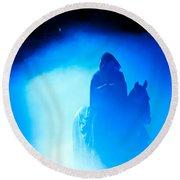 Blue Knight Round Beach Towel
