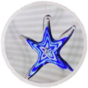 Blue Liquid Round Beach Towel