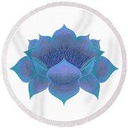 Round Beach Towel featuring the digital art Blue Lotus by Elizabeth Lock