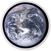 Blue Marble - Image Of The Earth From Apollo 17 Round Beach Towel