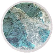 Round Beach Towel featuring the photograph Blue Maze by Athala Carole Bruckner