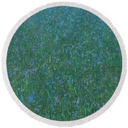 Blue Meadow 2 Round Beach Towel