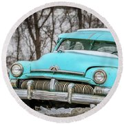 Blue Mercury Round Beach Towel