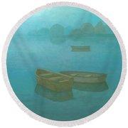 Blue Mist Round Beach Towel