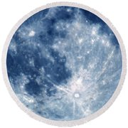 Blue Moon 7-31-15 Round Beach Towel
