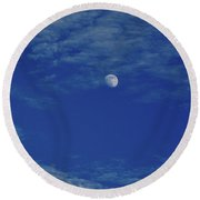Blue Moon Round Beach Towel