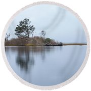 Blue Morning Round Beach Towel