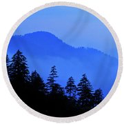Blue Morning - Fs000064 Round Beach Towel by Daniel Dempster