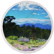 Blue Mountain West Round Beach Towel