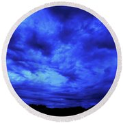 Blue Night Round Beach Towel by Mark Blauhoefer