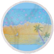 Blue Nile Round Beach Towel