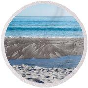 Blue Ocean Round Beach Towel