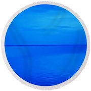 Blue Ocean Twilight Round Beach Towel by Randy Steele
