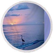 Blue On Blue Round Beach Towel