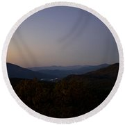 Blue Ridge Dawn Round Beach Towel