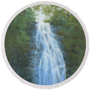 Blue Ridge Falls Round Beach Towel