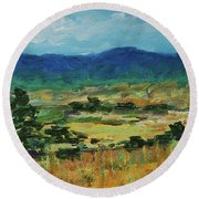 Blue Ridge Round Beach Towel