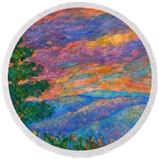 Blue Ridge Jewels Round Beach Towel