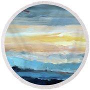 Blue Ridge Mountain Sunset 1.0 Round Beach Towel
