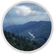 Blue Ridge Mountains 2 Round Beach Towel
