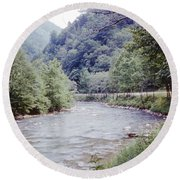 Blue Ridge Mountains 8 Round Beach Towel