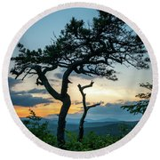 Blue Ridge Mountains Dr. Tree Round Beach Towel
