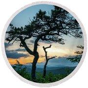 Blue Ridge Mountains Dr. Tree Round Beach Towel