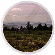 Blue Ridge Overlook Round Beach Towel